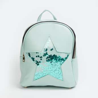 GINGER Women Embellished Zip-Closure Backpack