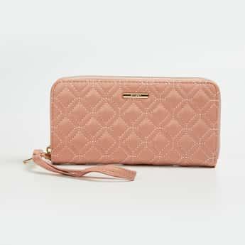 GINGER Women Quilted Zip Around Wallet