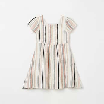 FAME FOREVER YOUNG Girls Textured A-line Dress
