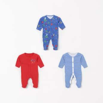 JUNIORS Boys Printed Sleepsuit- Set of 3