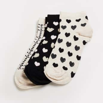 GINGER Women Jacquard Patterned Socks- Pack of 3