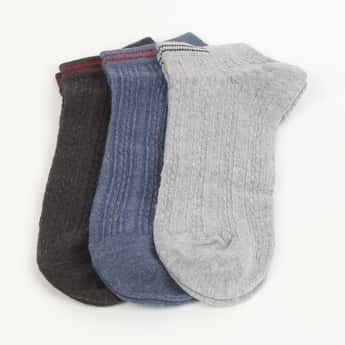 CODE Men Textured Socks - Pack of 3