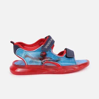 FAME FOREVER Boys Spiderman Print Velcro-Strap Lighting Sandals