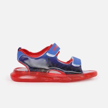 FAME FOREVER Boys Avengers Print Velcro Strap Lighting Sandals