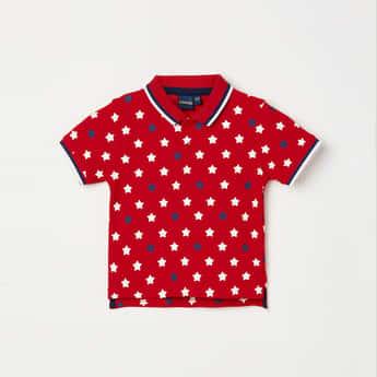 JUNIORS Boys Printed Regular Fit Polo T-shirt
