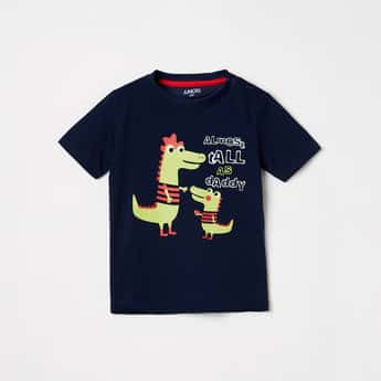 JUNIORS Boys Graphic Print Crew Neck T-shirt