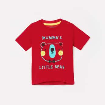 JUNIORS Boys Typographic Print Crew Neck T-shirt