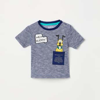JUNIORS Boys Textured Crew Neck T-shirt