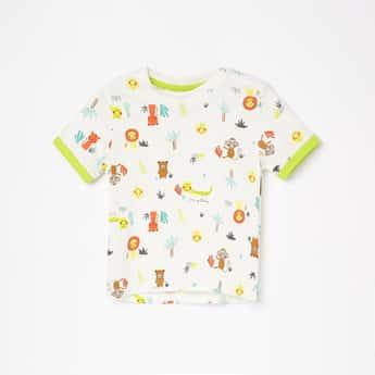 JUNIORS Boys Printed Crew Neck T-shirt