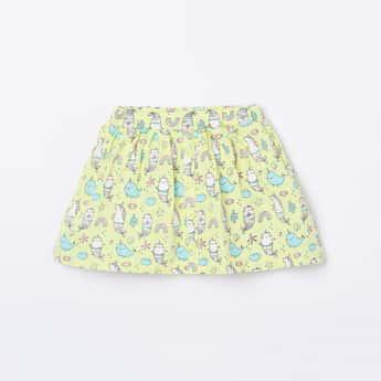 JUNIORS Girls Printed A-line Elasticated Skirt