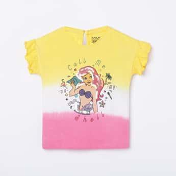 JUNIORS Girls Embellished Round Neck T-shirt