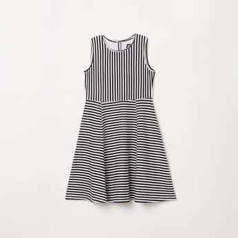 FAME FOREVER YOUNG Girls Striped A-line Dress