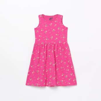 FAME FOREVER KIDS Girls Floral Print A-Line Dress