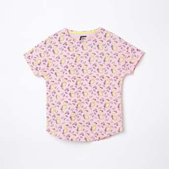 FAME FOREVER YOUNG Girls Printed Round Neck Top