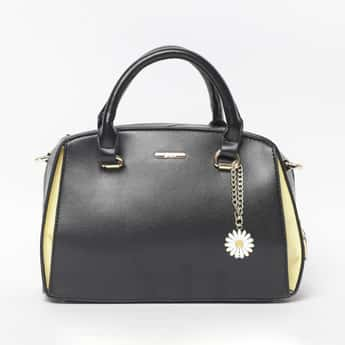 GINGER Women Solid Zip-Closure Bowler Handbag