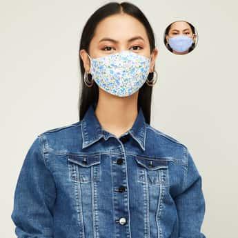 GINGER Women Printed Face Mask - Set of 2