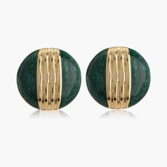 ESTELE Textured Two-Toned Studs