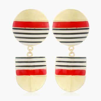 ESTELE Striped Drop Earrings