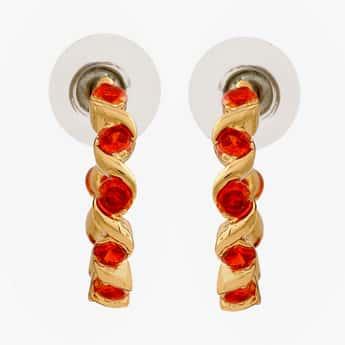 ESTELE Embellished Hoop Earrings