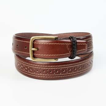 ALLEN SOLLY Men Perforated Casual Belt