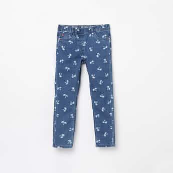 FAME FOREVER DENIMIZE Girls Printed Regular Fit Elasticated Jeans