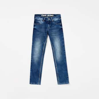 PEPE JEANS Boys Stonewashed Slim Fit Jeans