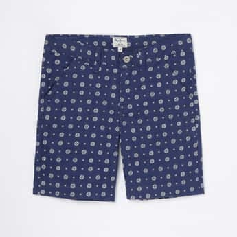 PEPE JEANS Boys Printed Woven Shorts