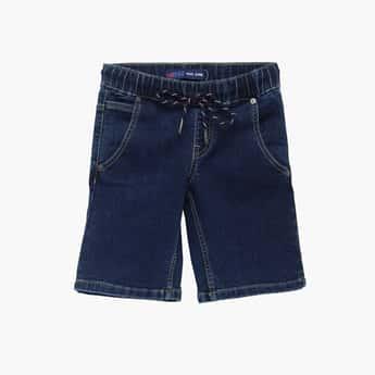 PEPE JEANS Boys Solid Denim Shorts