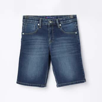 PEPE JEANS Boys Light Washed Woven Denim Shorts