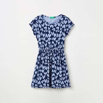 UNITED COLOR OF BENETTON Girls Printed A-Line Dress