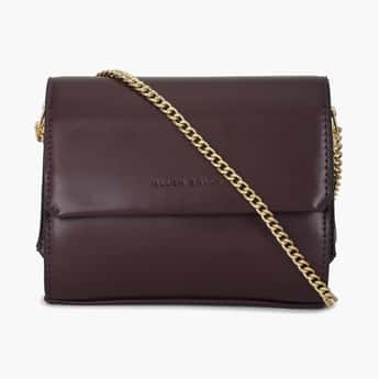 ALLEN SOLLY Sling Bag with Flap Closure