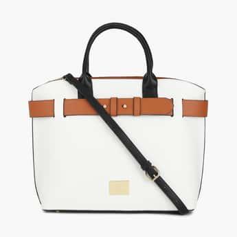 ALLEN SOLLY Women Solid Handheld Bag