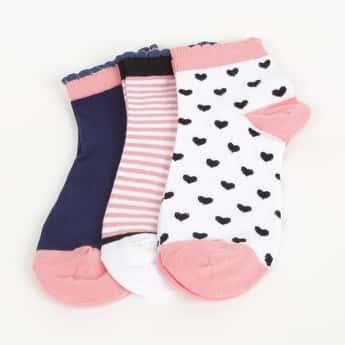 GINGER Women Patterned Ankle-Length Socks - Pair of 3