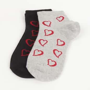 GINGER Women Jacquard Pattern Socks- Pack of 2