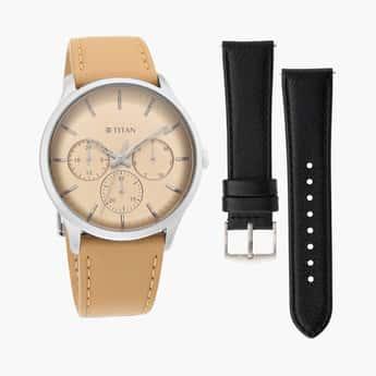 TITAN Men Water-Resistant Multifunction Watches- 90125SL04