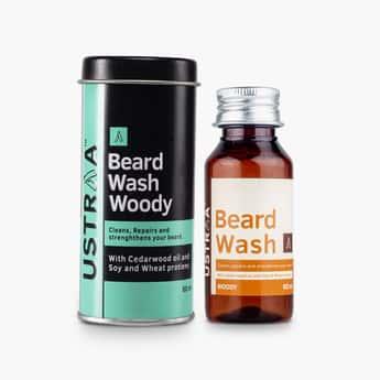 USTRAA Men Beard Wash Woody- 60ml