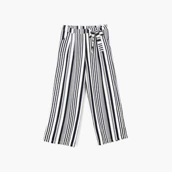 PEPPERMINT Girls Striped Full Length Palazzo Pants