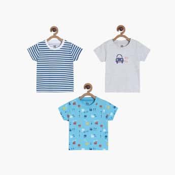 FS MINI KLUB Boys Printed Crew Neck T-shirt - Pack of 3