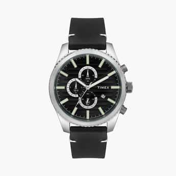 TIMEX Men Leather Strap Chronography Watch - TWEG19500