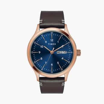 Timex Men Analog Watch With Leather Strap - TWEG19701