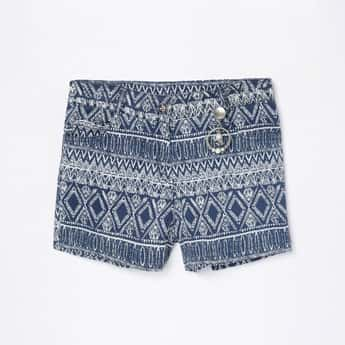 PEPPERMINT Girls Printed Woven Shorts