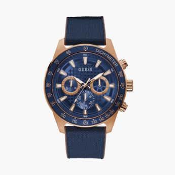 GUESS Men Water Resistant Chronograph Watch- GW0206G2