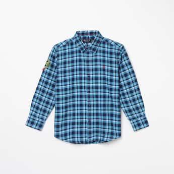 GINI & JONY Boys Checked Regular Fit Shirt