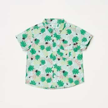 FS MINI KLUB Boys Printed Short Sleeves Casual Shirt
