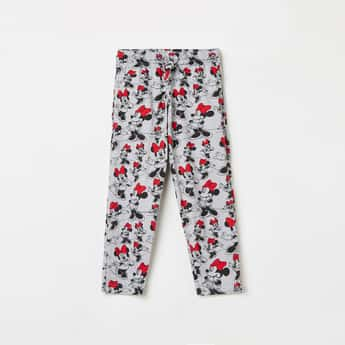 KIDSVILLE Girls Mickey Mouse Print Elasticated Track Pants