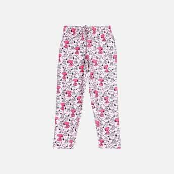 KIDSVILLE Girls Printed Elasticated Track Pants