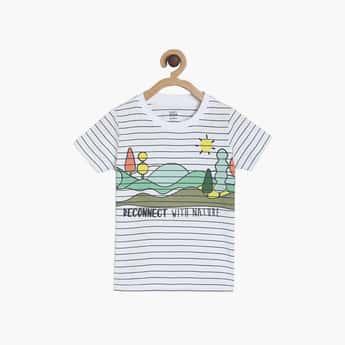 FS MINI KLUB Boys Printed Crew Neck T-shirt