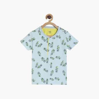 FS MINI KLUB Boys Printed Henley Neck T-shirt