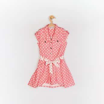 PEPPERMINT Girls Polka Dot Print Short Length Jumpsuit