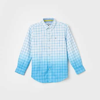 LEE COOPER JUNIORS Boys Checked Regular Fit Casual Shirt